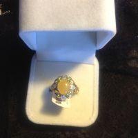 The Flamingo (Jade & Diamond Ring)